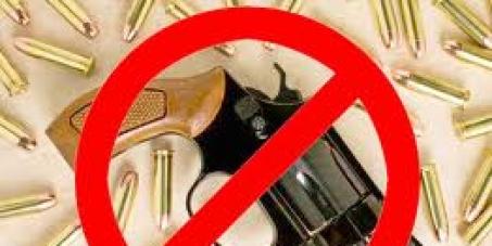 Proibir venda de ARMAS DE FOGO E MUNIÇÃO em LOJAS ou em QUALQUER TIPO DE COMÉRCIO.