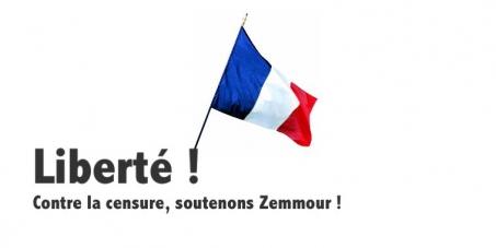 Pétition pour la liberté d'expression et la réintégration d'Eric Zemmour à RTL !