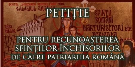 Patriarhia Bisericii Ortodoxe Române: Canonizarea Sfinților Închisorilor