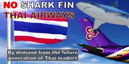 Thai Airways: Stop shipment of Shark Fin