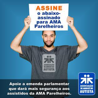 Apoie a emenda parlamentar que dará mais segurança aos assistidos da AMA Parelheiros