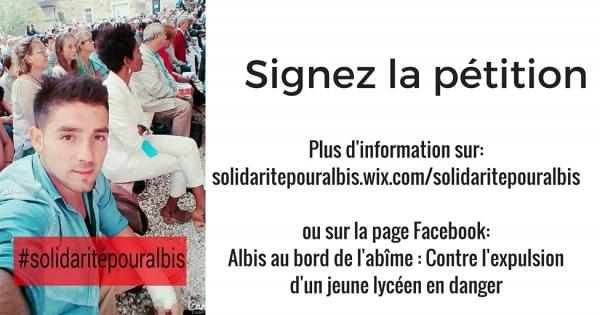 Mr le Préfet des Alpes Maritimes, ADOLPHE COLRAT: Albis au bord de l'abîme : Contre l'expulsion d'un jeune lycéen en danger