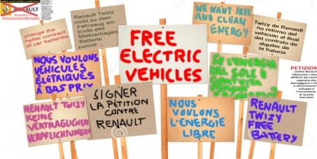 Liberate le autoelettriche dai contratti vessatori (Renault)!Free electric cars by oppressive contracts!
