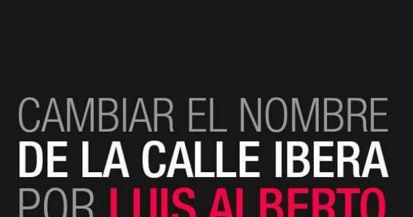 Cambiar el nombre de la calle Iberá por Luis Alberto Spinetta🎸