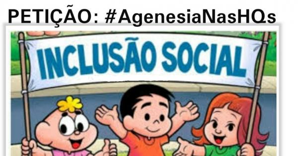 Instituto Mauricio de Sousa: Agenesia nos Quadrinhos!