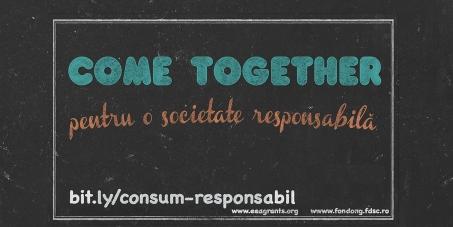 Sprijină consumul responsabil- la nivel individual și la nivelul întregii societăți