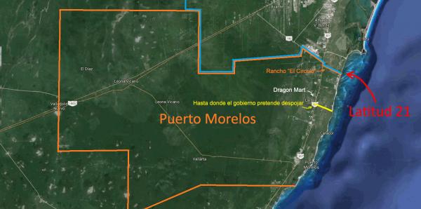 Roberto Borge Angulo Gobernador de Quintana Roo: Respeto al límite territorial de Puerto Morelos