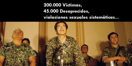 Impedir que concedan la amnistía al genocida Ríos Montt en Guatemala