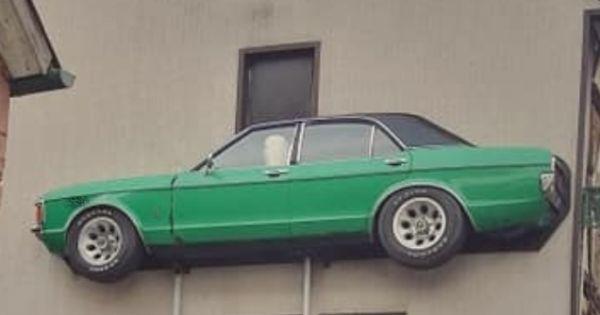 Hingucker: Ford Granada an Hauswand in Brensbach soll bleiben!