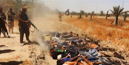 Stop radicalism groups crimes against humanity in Middle East