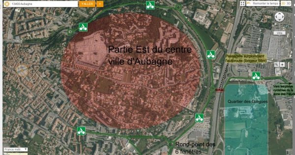 Agglomération d'Aubagne: Lettre de soutien au développement du réseau cyclable d'Aubagne