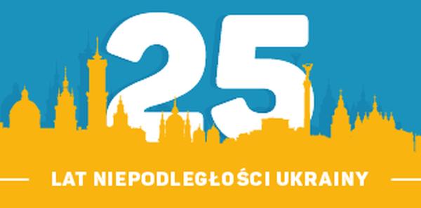 Prezydent Ukrainy Petro Poroshenko : Życzenia dla Ukrainy z okazji 25 rocznicy Niepodległości