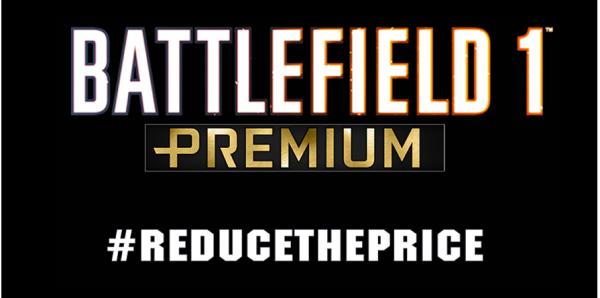 Electronic Arts: Redução do preço do Battlefield 1 no Brasil #REDUCETHEPRICE