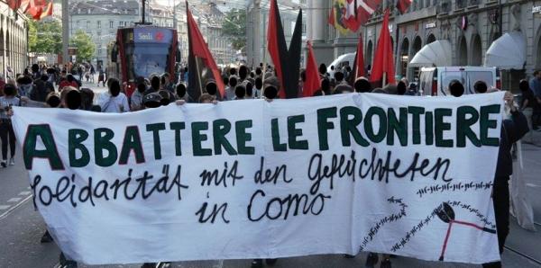 Menschen, die das abweisende Grenz- und Asylregime durchsetzen: Grenzen auf in Como und überall