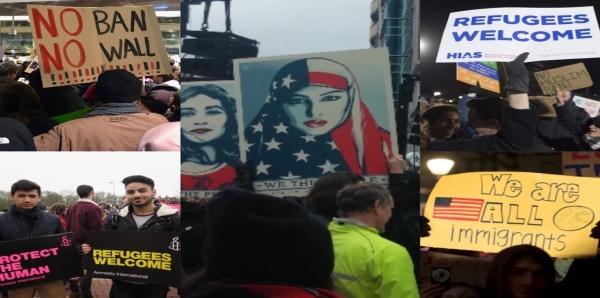 شاركنا في تحية مُعارضي التمييز والاضطهاد في أمريكا