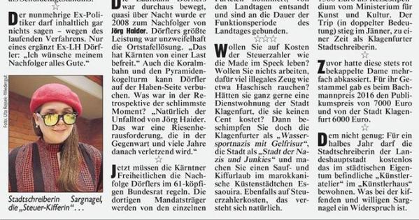 Kündigung des Krone-Journalisten Fritz Kimeswenger:  Krone Verlag GesmbH & Co KG