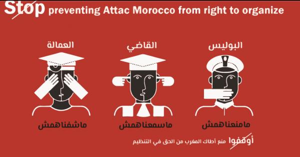 عريضة الإعتراف بالحق القانوني لجمعية أطاك المغرب