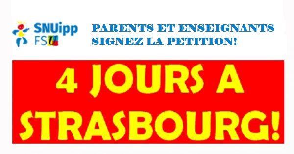 Monsieur le Maire de Strasbourg : pour un retour à la semaine de 4 jours à Strasbourg dès la rentrée 2018