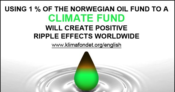 Use 1 % of the Norwegian Oil Fund's return to a Climate Fund