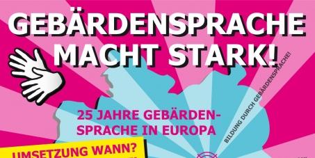 Aktion Gebärdensprache NEUESTE Info zur DEMO am 14. Juni in Berlin