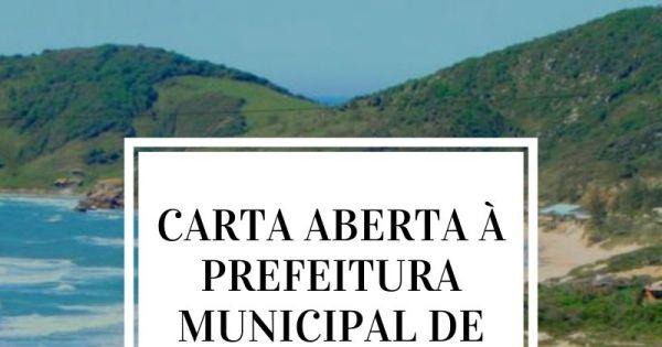 CARTA ABERTA DOS MORADORES À PREFEITURA MUNICIPAL DE IMBITUBA/SC