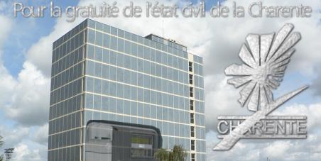 Pour la gratuité de l'état civil de la Charente