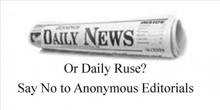 An end to unattributed/ anonymous Editorials in New Zealand's Newspapers