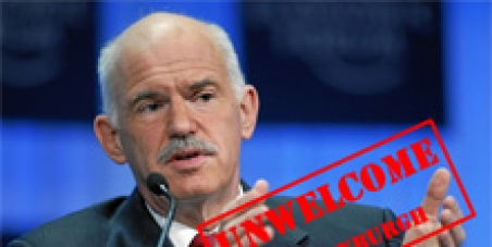 Against the visit of G. Papandreou in Edinburgh