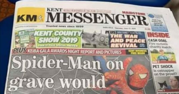 Disney refuse Spider-Man headstone for Ollie Jones sign petition ma help change their mind
