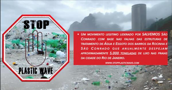 Precisamos parar o LIXO e o Esgoto na Praia de São Conrado