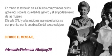 United Nations and All Member States: We want commitment with the eradication of Street Harassment in Beijing +20