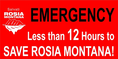 Romanian Parliament, Chamber of Deputies: Less than 12 Hours to SAVE ROSIA MONTANA!