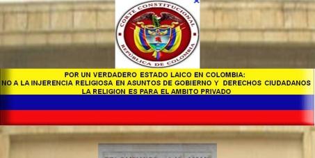 QUE EN COLOMBIA SE HAGA REALIDAD EL ESTADO LAICO.