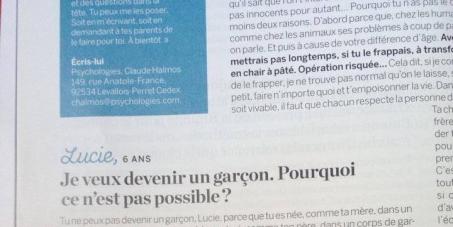 """Psychologies Magazine: Pour que """"Psychologies Magazine"""" respecte les droits des transexuels"""