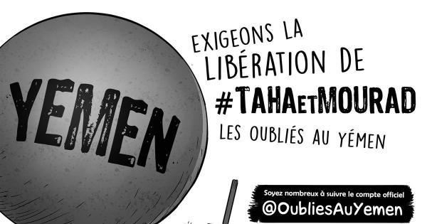 Représentation française chargée des ressortissants au Yémen : manifestez-vous afin qu'ils soient libérés !