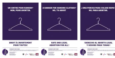 Pour la légalisation universelle de l'avortement sûr et accessible pour toutes les femmes !