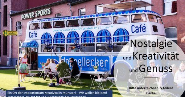 Doppellecker Genussbus am Kreativkai. Das Kleinod am Hafen in Münster muss bleiben!