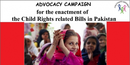 Enactment of child rights related pending bills in Pakistan