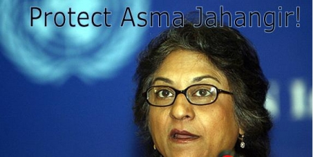 Protect Pakistan's leading human rights activist Asma Jahangir from state agency plots to assassinate her!