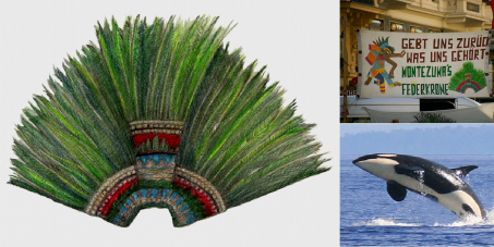 GIVE MEXICO BACK WHAT IT BELONG TO  - THE MEXICAN EMPEROR MONTEZUMA'S HOLY FEATHER-CROWN!!!
