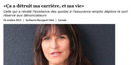 Réembauchez Mme Sylvie Therrien, congédiée injustement par Emploi et développement social Canada