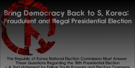 Bring Democracy Back to South Korea: Fraudulent and Illegal Presidential Election