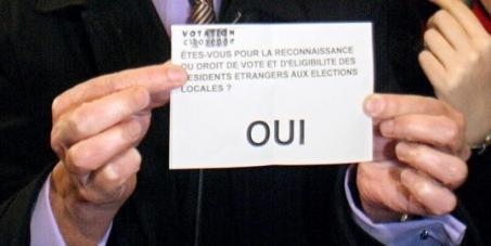 Appel pour le droit de vote des étrangers