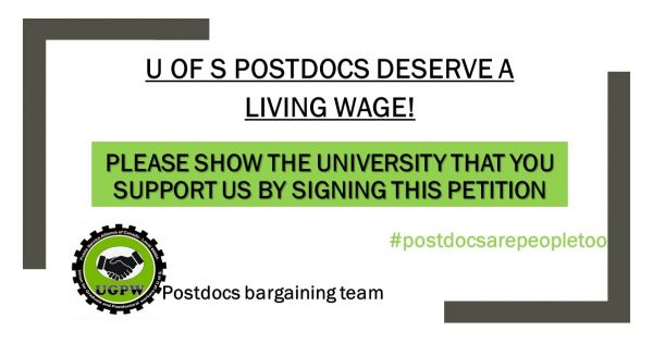 University of Saskatchewan: Postdocs Deserve a Living Wage!