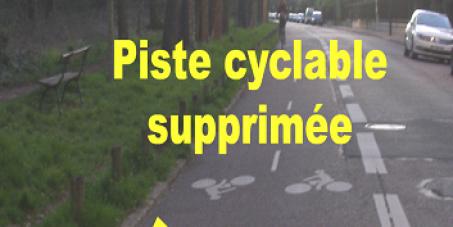 M. le Maire de Nogent-sur-Marne: Rétablissez la piste cyclable le long du bois de Vincennes !