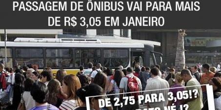 Contra o aumento da passagem de ônibus no Rio declarado p/ 2013