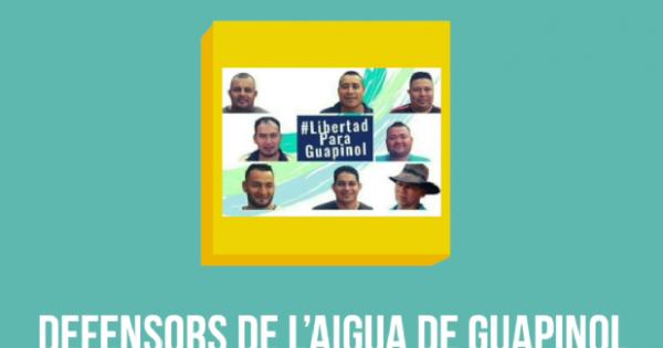 Defensors de l'aigua de Guapinol: més d'un any en presó preventiva