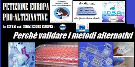 EUROPA PRO-ALTERNATIVE Per una validazione veloce e consistente dei metodi alternativi alla Sperimentazione animale