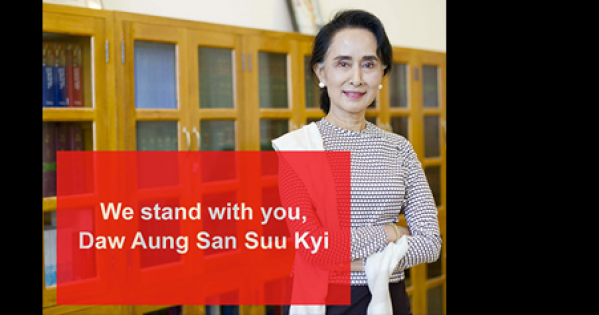 The Lord Mayor: Thank you and stand with us to condemn a protest against Daw Aung San Suu Kyi