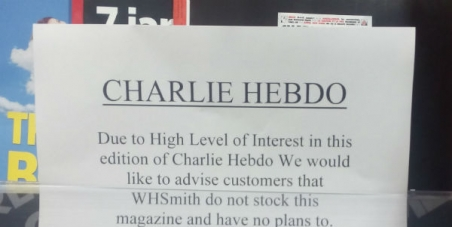 W H Smith: No to censorship - Sell Charlie Hebdo